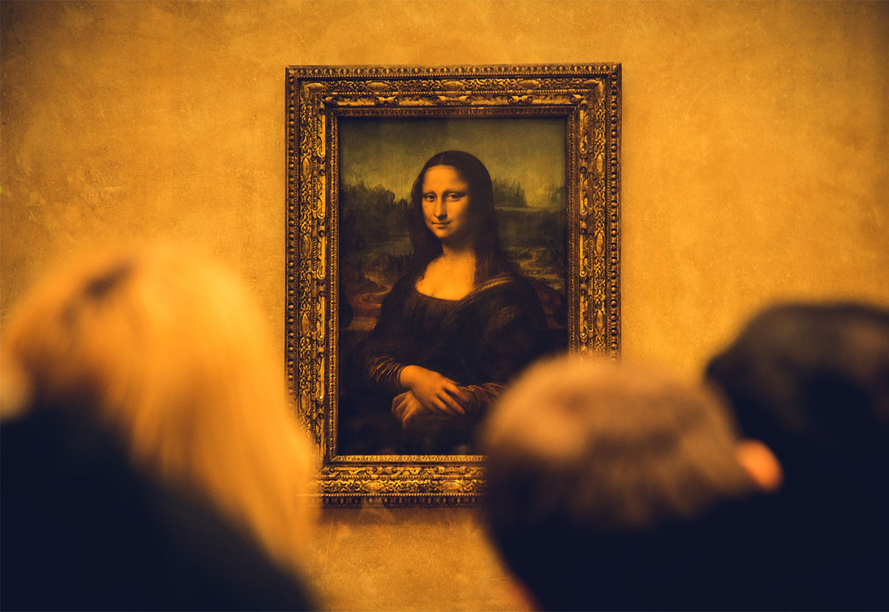Mona Lisa no museu do Louvre